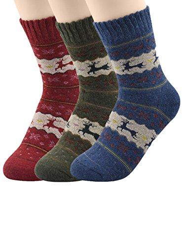 [Century Star Knitting Hiking Moderate Fashion Soft Socks for Women 3 Pack Deer] (80s Fancy Dress Ideas Men)