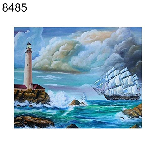 Price comparison product image Shuohu Lighthouse Starry Diamond Painting Cross Stitch Resin DIY Wall Picture