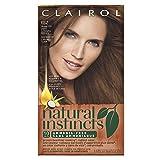 Clairol Natural Instincts Semi-Permanent Hair Color Kit (Pack of 3) 6BZ / 12A Navajo Bronze Light Caramel Brown, Ammonia Free, Long Lasting