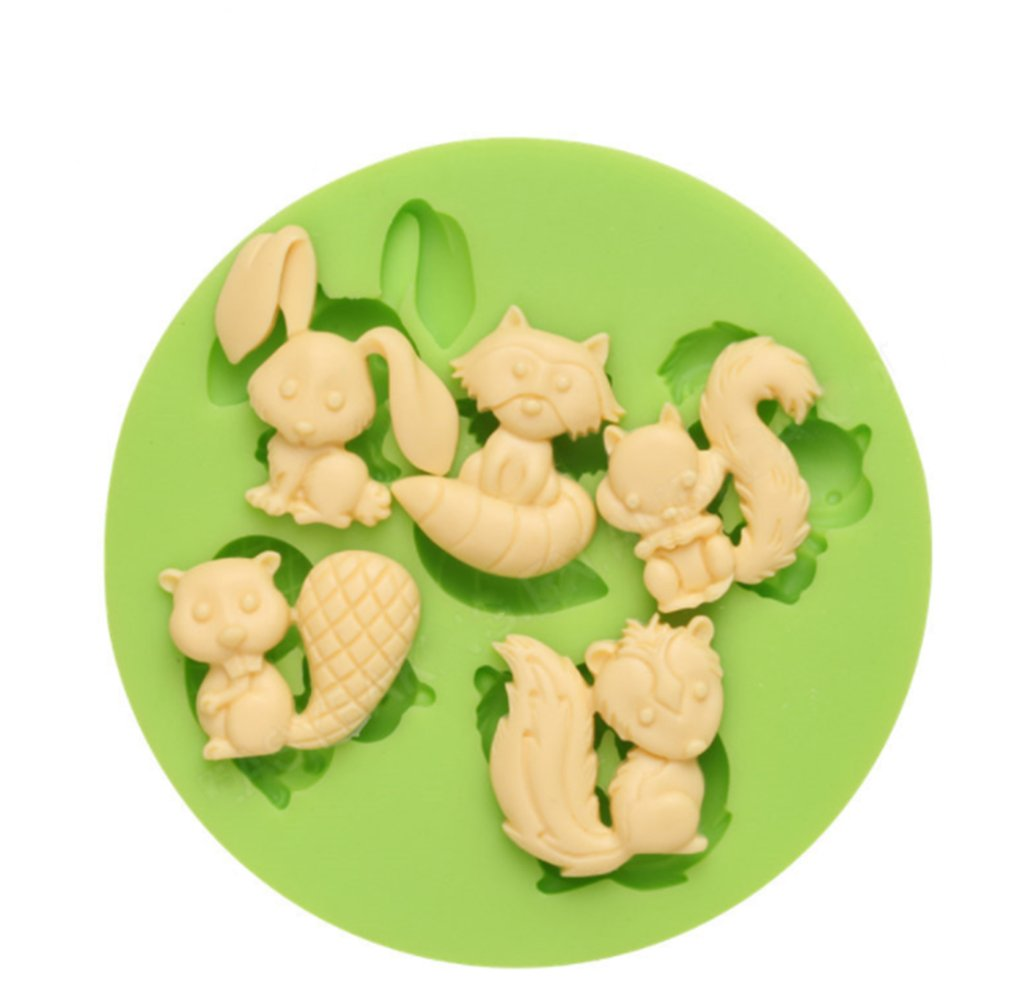 Creationtop Silicone Mold Teddy Bears Fondant and Gum Paste Candy Cake Baking Mold For Cake Decorating (Forest's Animals) by CREATIONTOP