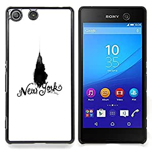 - New York Chrysler White Black Empire/ Duro Snap en el tel????fono celular de la cubierta - Cao - For Sony Xperia M5