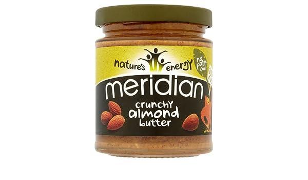 Manteca deAlmendra 100% Crujiente Meridian 170 g (Pida 6 para 1 caja): Amazon.es: Salud y cuidado personal