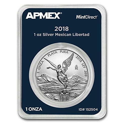 2018 MX Mexico 1 oz Silver Libertad (MintDirect? Single) 1 OZ Brilliant Uncirculated