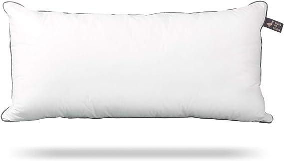 Almohada de Gans im Glück de alta calidad con innovador relleno de plumón sintético, 40 x 80 y 80 x 80 cm, Algodón de percal fino., Blanco, 40 x 80 cm: Amazon.es: Hogar