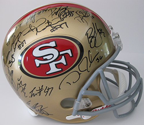 Michael Crabtree 49ers Signed Football, 49ers Michael