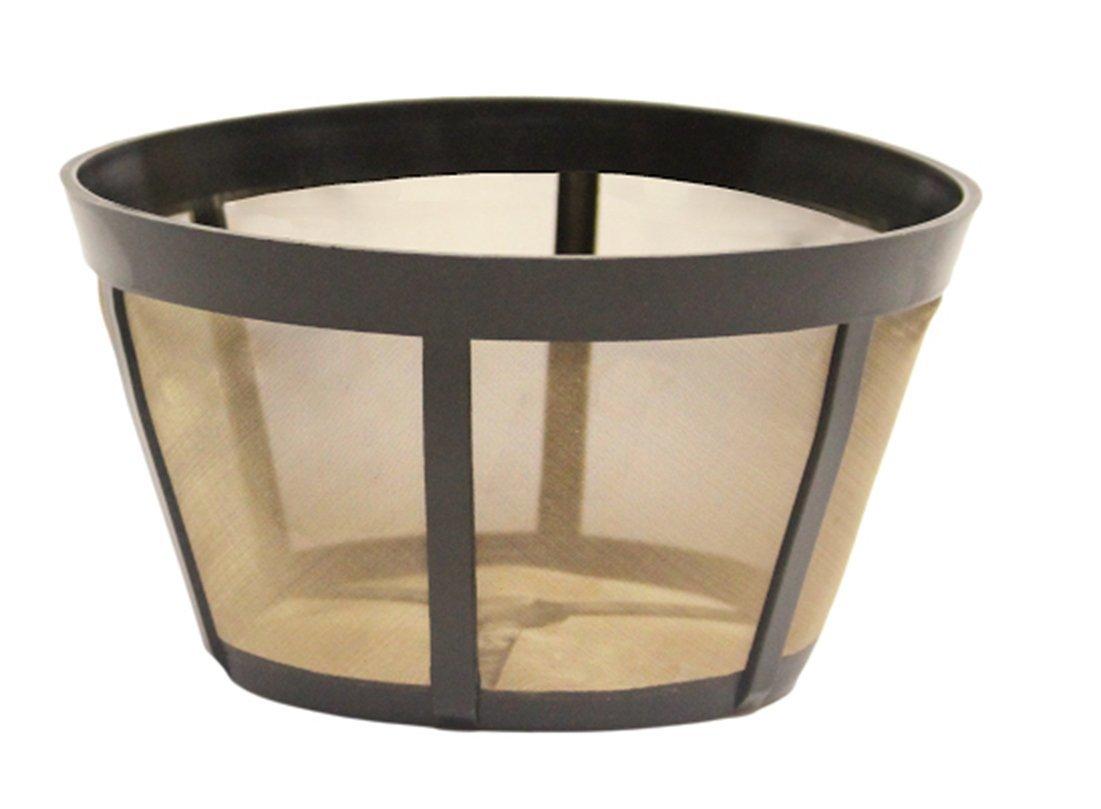 ゴールドトーン再利用可能なバスケットコーヒーフィルタ、Bunn Fits Commercialコーヒーメーカー ブラック 3  B0793278N1