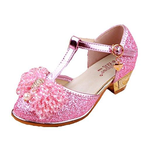 Kinder flach Sandaletten Sandalette Sandalen Freizeit Pink Halbschuhe Kleinkinder Mädchen Mädchen Ballerinas Ohmais x1pnFF
