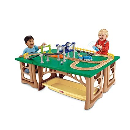 Amazon.com: Fisher-Price GeoTrax Train Table and RC Set (Age: 2 ...