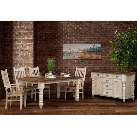 Amazon.com - Cabinfield Arabel Amish Dining Room Set, Table ...