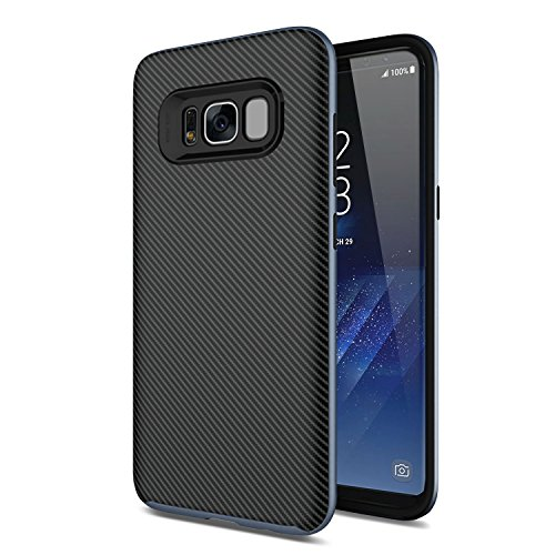 Samsung S8 Carbon Fiber Case - Neo Hybrid - Olixar X-Duo - Grey - Samsung Galaxy S8 - Dual Layered Protection - Fibre Case