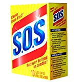 SOS Steel Wool Pads (10 Pads In 1 Pack) 931012