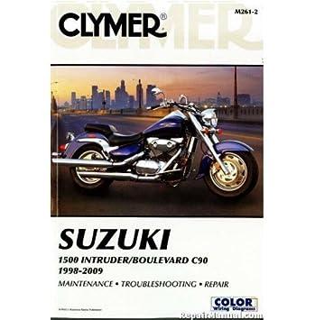 Clymer Motorcycle Repair Manual For Suzuki VL1500 Boulevard C90 T 05 07 And Suzuki VL1500 Intruder LC 98 05 ZZ 4201 0217