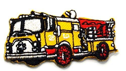 【ノーブランド品】アイロンワッペン ミニワッペン ワッペン 刺繍ワッペン 消防車 アイロンで貼れるワッペンの商品画像