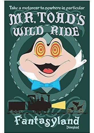Target achiver Rare Poster Disneyland MR. TOAD'S Wild Ride fantasyland 12 x 18 Inch Rolled