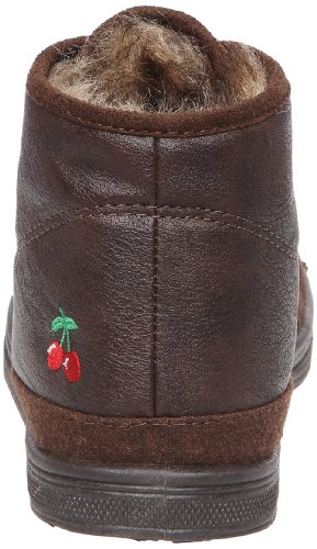 03 Marron Femme Mode brown Baskets Le Cerises Leather Mono Temps Des Basic xHazwIqv