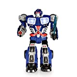 SainSmart Jr. HAP-P-KID Cybotronix Electronic Walking Robot with Lighted Dual Screen and Weapons