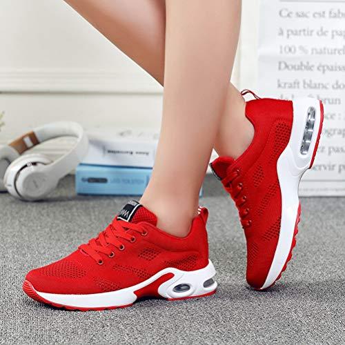 Al Cordones Aire Mujer Fitness Transpirable Malla Correr Deporte Red Femenina Cojines Zapatillas Plataforma Spring Libre Para De wYXqZnx1