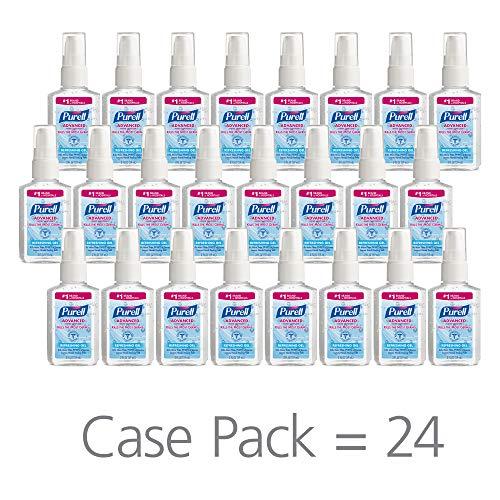 (PURELL Advanced Hand Sanitizer, Refreshing Gel, 2 fl oz Sanitizer Portable,Travel Sized Pump Bottles (Case of 24) - 9606-24)