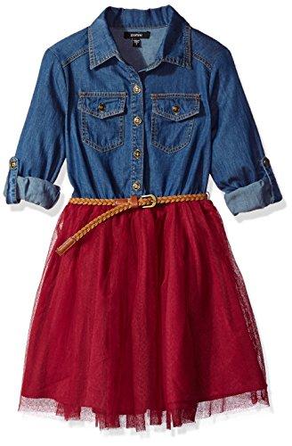 Full Skirt Shirt Dress - 1