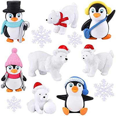 Polar Bear & Penguin Figurines!