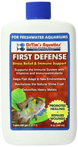 DrTim's Aquatics First Defense Aquarium Stress Relief & Immune Support, Freshwater 8 oz