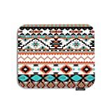 Moslion Aztec Mouse Pad Colorful Bohemian Tribal Geometric Diamond Triangle Striped Gaming Mouse Pad Rubber Large Mousepad for Computer Desk Laptop Office Work 7.9x9.5 Inch