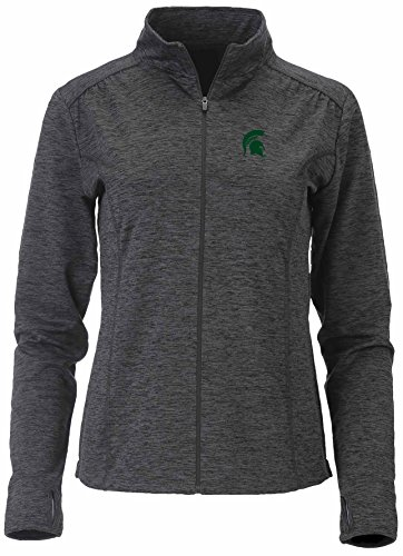 Ouray Sportswear NCAA Michigan State Spartans Swerve Full Zip Jacket, Medium, Charcoal (Michigan State Spartans Jacket)