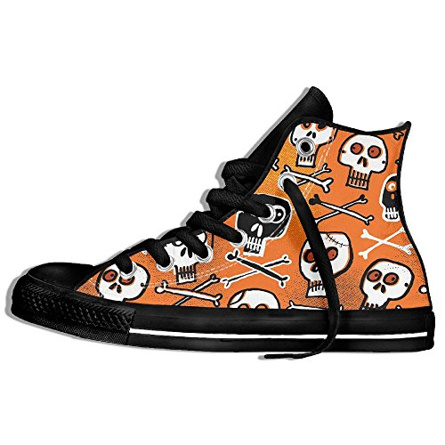 FAIRY Classic Lace Up High Top Canvas Shoes Funny Halloween Skulls Sneaker For Men Women