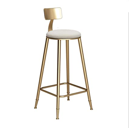 free shipping 3423a 5609a Amazon.com: Barstool Nordic Simple Gold Bar Chair Coffee ...
