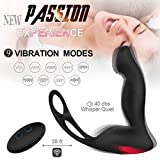 Meetyoo Male Prostate Vibe Sex Stimulor Massager with 9 Mode Viberate Anal Sex Toys Wireless Remote Control Silicon Vibrator for Men Butt Plug Prostate Vibe Massage