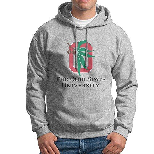 Ohio State University OSU Boys Long Sleeve Ash Hoodies Sweatshirt Jacket - Katie Long Jacket
