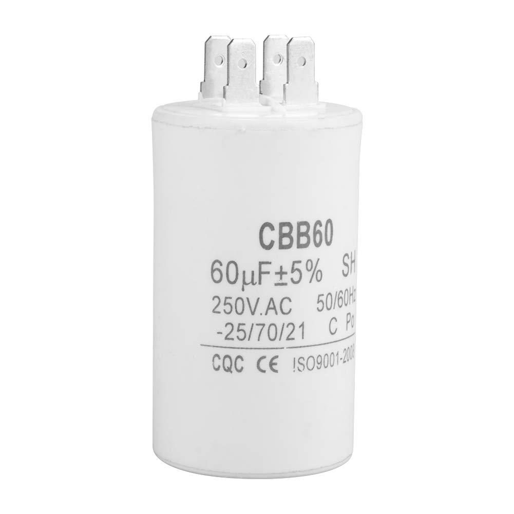 CBB60 Condensador,Condensador de funcionamiento AC 250V 60uF 50/60HZ Para lavadora, bomba y motores