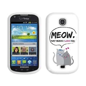 Fincibo (TM) Samsung Galaxy Stellar Jasper I200 Protector Cover Case Silicone Skin Soft TPU Gel - I Love You Meow