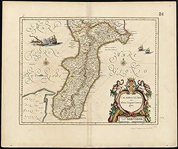 Amazoncom Historic Map Calabria Ultra Olim Altera - Pars map