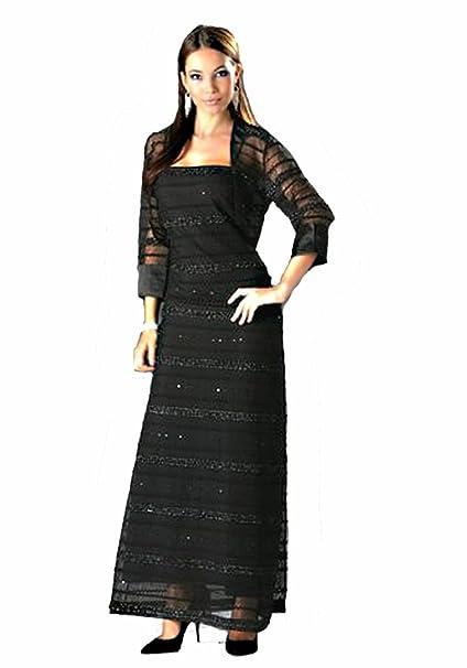 Laura Scott Evening de mujer chaqueta para vestido de noche y Bolero Chaqueta Negro negro 34: Amazon.es: Ropa y accesorios