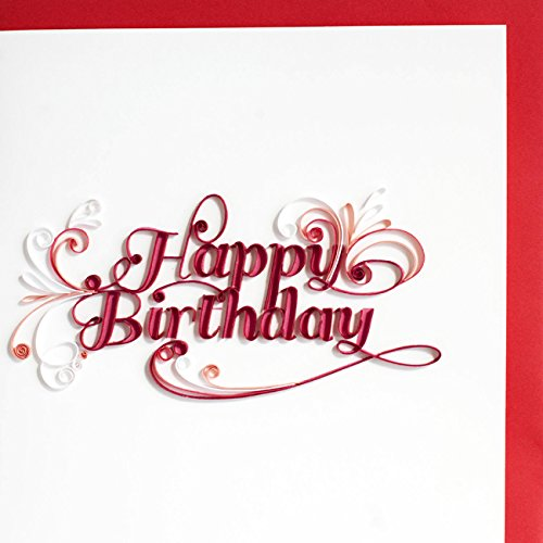 Quilling Card 3D Greeting Cards Happy Birthday letter