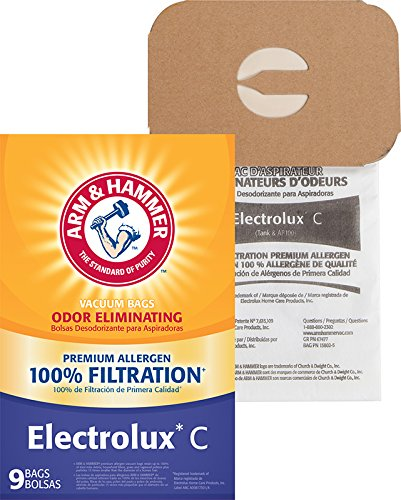 Arm & Hammer (ARMCW) A&H Electrolux Style C & Tank Premium Paper 9 Pk Bag (Style Bags Electrolux C Vacuum)