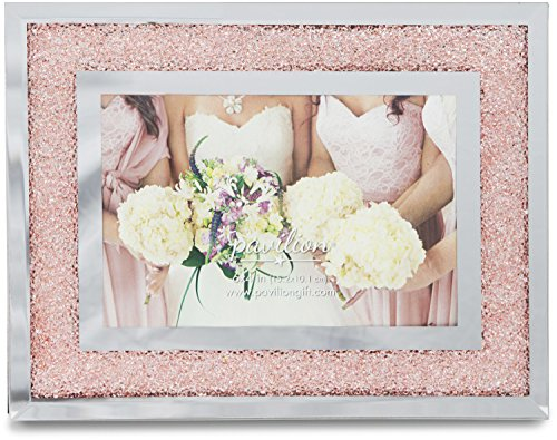 (Pavilion Gift Company Glorious Occasions Pink Crystal Wedding Bridesmaids Picture Frame, 6