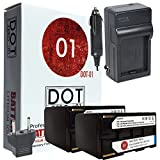 DOT-01 2X Brand Canon BP-945 Batteries and Charger for Canon GL2, XL2, XH-A1, GL1, XL1, XL1S, XH A1S, XH G1, XH H1, XF200, XF20S, XF100, XF300 Canon BP945