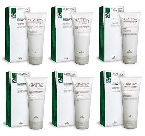 Specchiasol - verattiva Reafirmante Crema 6 paquetes de 200 ml elasticizzante, Tonificante, Antiage: Amazon.es: Belleza