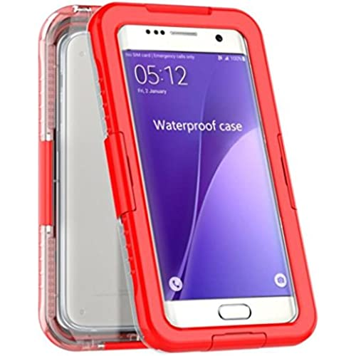 Kwok 2016 Waterproof Shockproof DustProof Case Cover For Samsung Galaxy S7 edge (Red) Sales