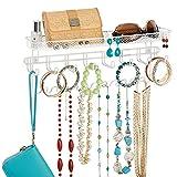 mDesign Decorative Metal Closet Wall Mount Jewelry
