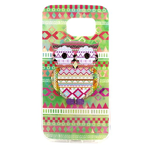 Vogue shop Galaxy S6 Edge Case, S6 tpu case,[Ultra Slim] [Perfect Fit] [Scratch Resistant] Fashion Color [Owl][Elephant][Hearts]Pattern Design Silicone TPU Skin Case Cover For Samsung Galaxy S6 Edge (Vogue Shop-Tribal Eagle)