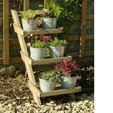 58926c312d4c GARDEN TRADING WOODEN 3 TIER HERB POTS PLANT STAND: Amazon.co.uk: Kitchen &  Home