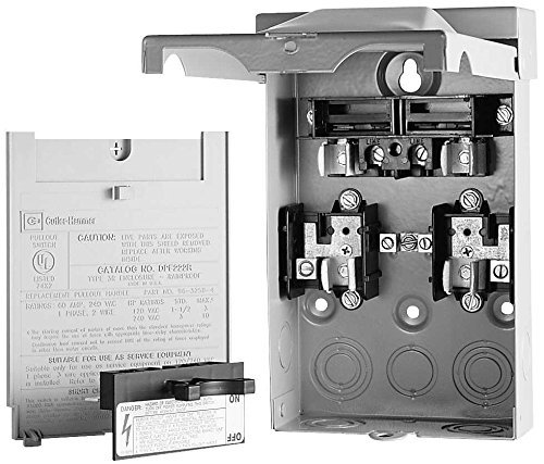 Eaton DPU362RA Ac Disconnect Rain Tight 3-Phase 60A 600V Non-Fuse, 1