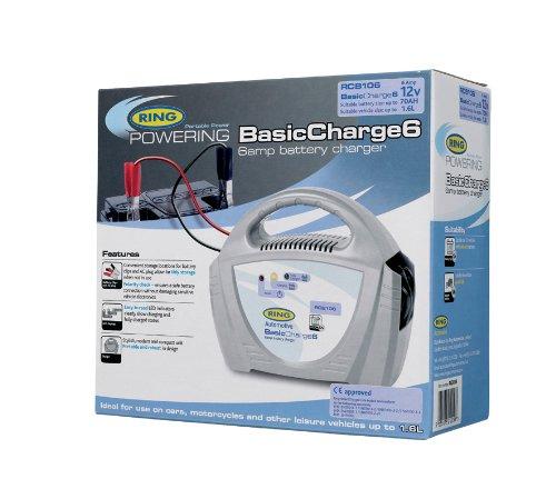Ring RCB106/Caricabatterie per batterie Piombo-Acido da 12 V per Veicoli Fino a 1,6/l 6 A