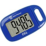 OZO Fitness CS1 Easy Pedometer for Walking | Step Counter with Large Display and Lanyard (Blue)