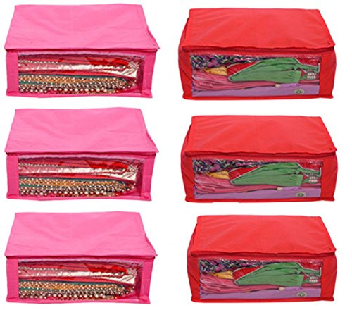 Kuber Industries™ Non Woven Saree Cover 6 Pcs Combo