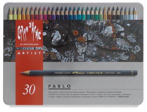 CARAN DACHE Set de 30 Lápices de Color Pablo (666.330)