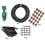 "Philonext 65.6 feet Drip Irrigation Kit - Irrigation Gardener's Greenhouse Plant Watering - 1/4"" Blank Distribution Tubing Micro Landscaper Sprinkler Landscape & Shrub Drip Kit Accessories"